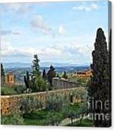 Top Of A Hill Town Canvas Print