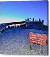 Top Of Mount Mitchell After Sunset Canvas Print