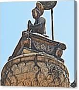 Top Of Stone Pillar In Bhaktapur Durbar Square In Bhaktapur-nepal Canvas Print