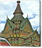 Top Of Temple In Wat Po In Bangkok-thailand Canvas Print