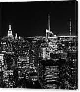Top Of The Rock In Black And White Canvas Print