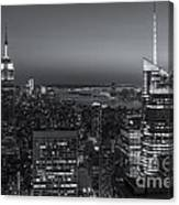 Top Of The Rock Twilight V Canvas Print