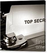 Top Secret Document In Armored Briefcase Canvas Print
