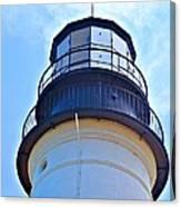 Top View Of Portland Head Light Canvas Print