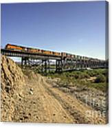 Topock Bridge Freight Canvas Print
