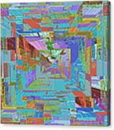 Topographic Albatross Canvas Print