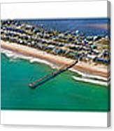 Topsail Island Aerial Panels Canvas Print
