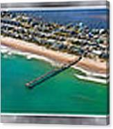 Topsail Island Aerial Panels II Canvas Print