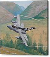 Tornado Gr4 - Shiny Two Flying Low Canvas Print