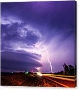 Tornado Warning In Northern Buffalo County Canvas Print