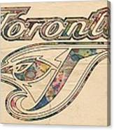 Toronto Blue Jays Logo Art Canvas Print