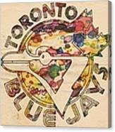 Toronto Blue Jays Vintage Art Canvas Print