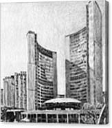 Toronto City Hall I Study Canvas Print