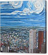 Toronto Cn Tower Veiw North East Canvas Print
