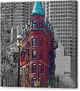 Toronto Flat Iron Building Version 2 Canvas Print