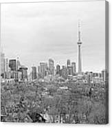 Toronto In Black And White Canvas Print