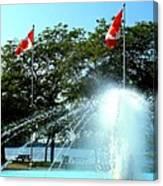 Toronto Island Fountain Canvas Print
