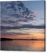 Toronto Skyline In Pastel Blue Pink Yellow Orange And Purple Canvas Print