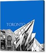 Toronto Skyline Royal Ontario Museum - Blue Canvas Print