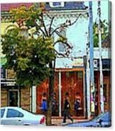 Toronto Stroll Past Fashion Stores Downtown Early Autumn Urban City Scenes Canadian Art C Spandau Canvas Print