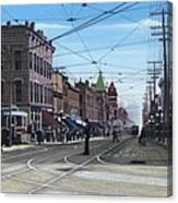 Toronto Yonge And College 1916 Canvas Print
