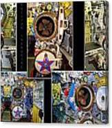 Torpedo Tubes Collage Russian Submarine Canvas Print