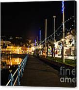 Torquay Victoria Parade At Night Canvas Print