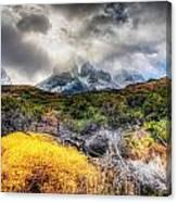 Torres Del Paine Peaks Canvas Print