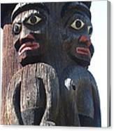 Totem Twins Canvas Print