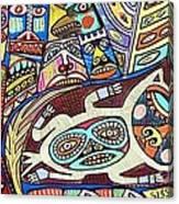 Totem Wolf Mother Spirit Canvas Print