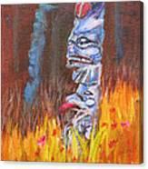 Totems Of Haida Gwaii Canvas Print