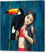 Toucan Girl Canvas Print