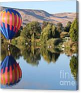 Touchdown On The Yakima River Canvas Print