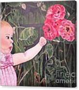 Touched By The Roses Painting Canvas Print