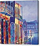 Toulouse At Bourbon New Orleans Canvas Print