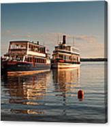 Tour Boats Lake Geneva Wi Canvas Print