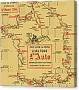 Tour De France 1914 Canvas Print