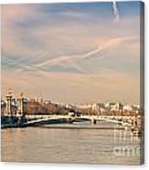 Tour Eiffel And Alexandre IIi Bridge - Paris  Canvas Print