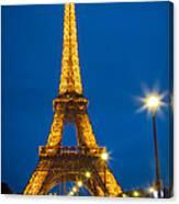 Tour Eiffel De Nuit Canvas Print