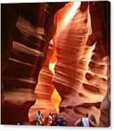 Touring Antelope Canyon Canvas Print
