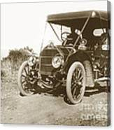 Touring Car On The Road California 1906 Canvas Print