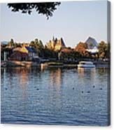 Touring On The World Showcase Lagoon Walt Disney World Canvas Print