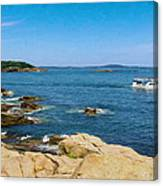 Touring The Rocky Shore Canvas Print