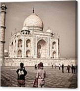 Touring The Taj Canvas Print