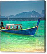 Tourist Longboat Canvas Print