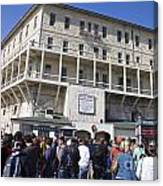 Tourists At Alcatraz Island Canvas Print