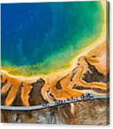 Tourists At Grand Prismatic Canvas Print