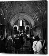 tourists inside the Gedenkhalle memorial hall of Kaiser Wilhelm Gednachtniskirche Canvas Print