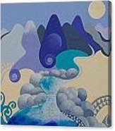 Towards Otaki Forks  Canvas Print