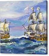 Towards The Horizon Bg Canvas Print